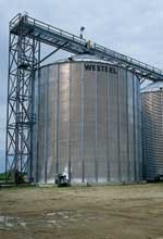 Westeel commercial storage bins are used in the bio-fuels industry