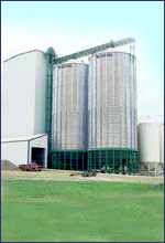 Commercial Hoppers are available in capacities up to 50,000 bushels