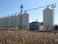 Economical grain handling system designed for one-man operation