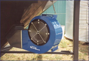 Grain drying fans, like these, can prevent moisture build-up
