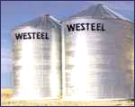 Wide-Corr Centurion farm silos have external stiffeners for extra strength