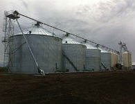 Slanted grain pump at the Allen Sawchuk facility