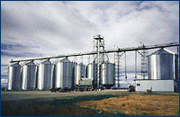 Bar NoneRanch grain storage bins