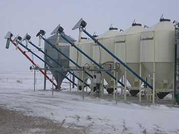 A grain mill - key to simple farm livestock feed system